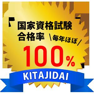 国家資格試験合格率は毎年ほぼ100%